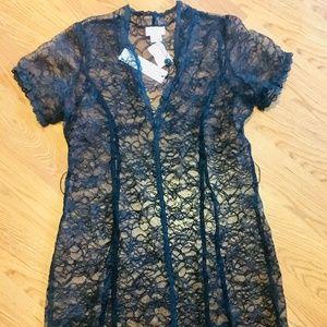 MIGUELINA Sheer Overlay Dress